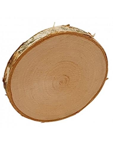 Boomschijf berkenhout rond 9-10cm
