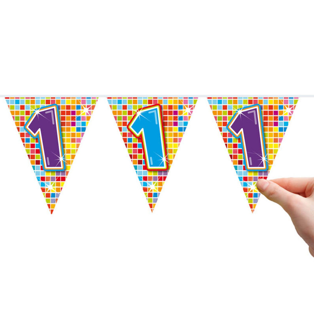 Mini Vlaggenlijn Blocks 1 jaar, 6mtr.
