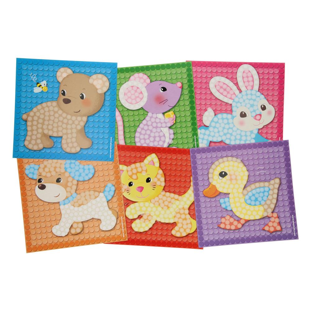 PlayMais Mosaic Kaarten Versieren Kleine Vriendjes