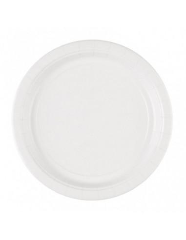 Witte Papieren Bordjes 23cm 8st.