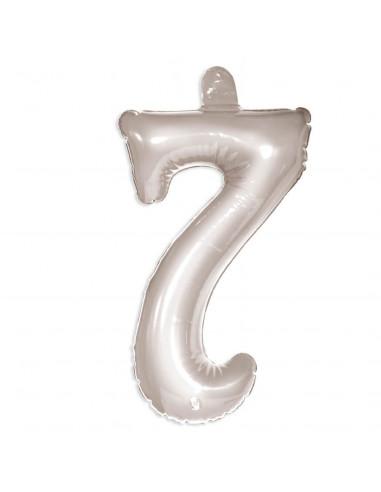 Opblaascijfer 7 Zilver BT