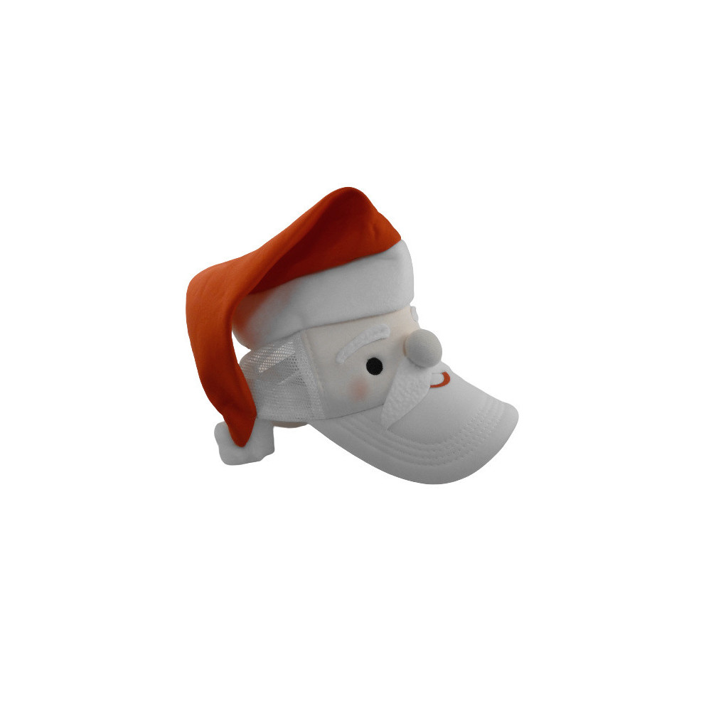 Pet Kerstman 18 X 26 Cm Polyester Rood/wit