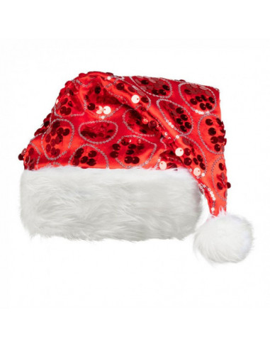 Kerstmuts Dangling Polyester Rood/wit...
