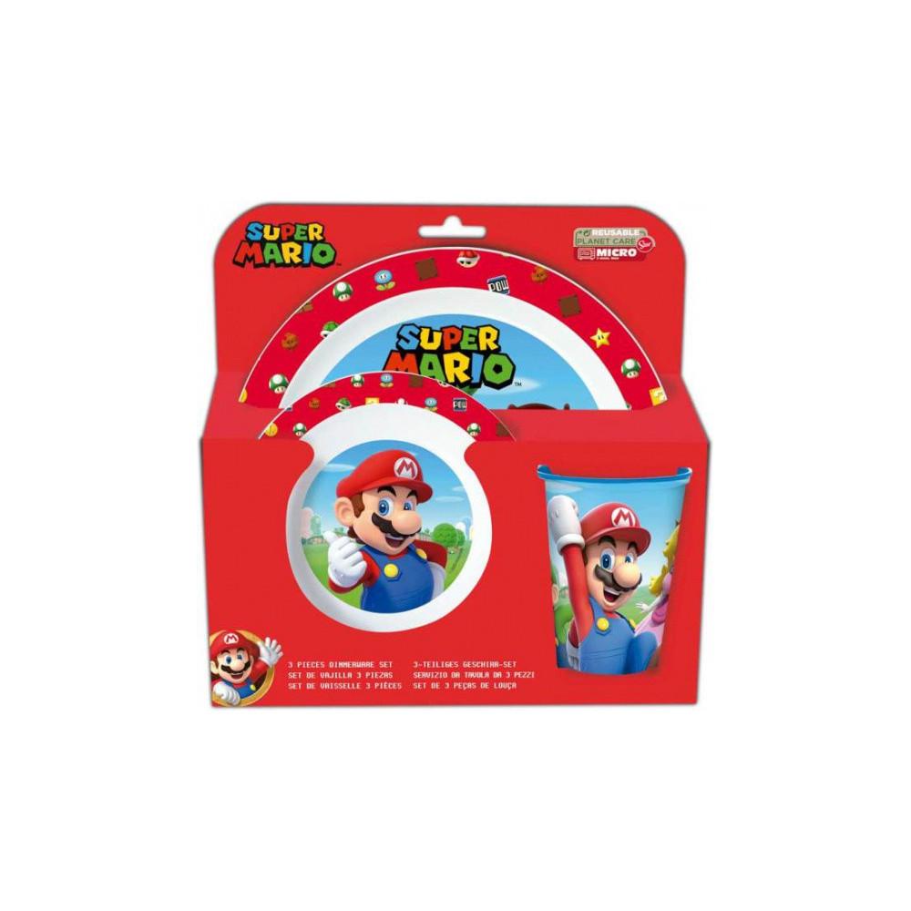 Serviesset Super Mario Junior Rood/wit 3-delig