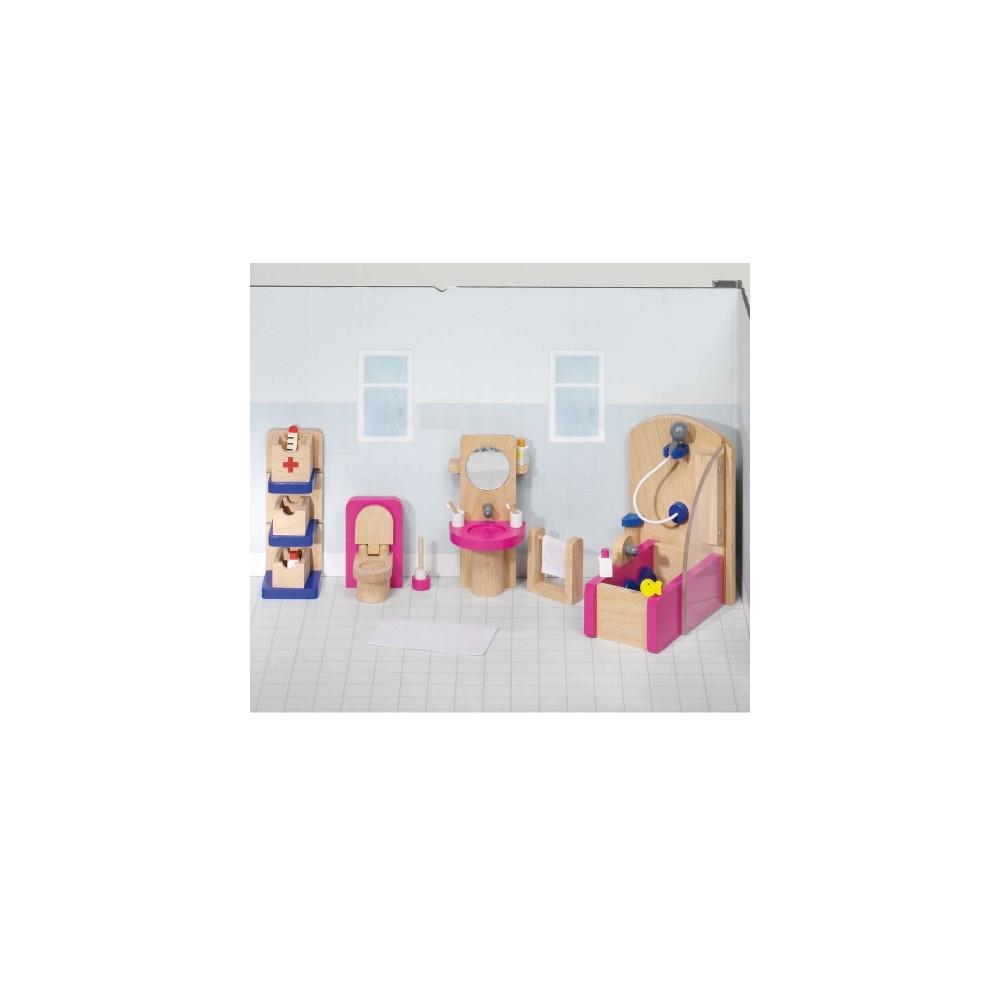 Badkamer poppenhuis badkamer ontwerp idee n voor uw huis samen met meubels die het - Houten meubels voor badkamers ...