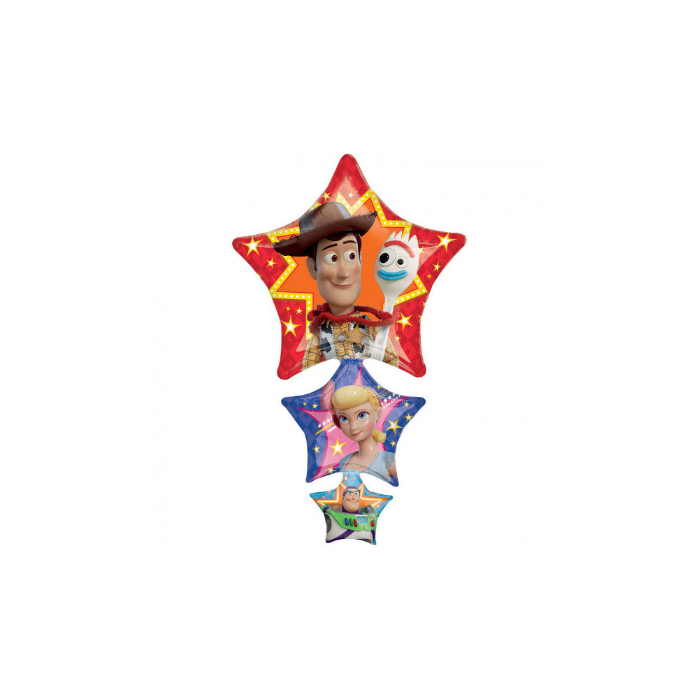 Folieballon Toy Story Ster 63 X 106 Cm Rood/blauw/paars