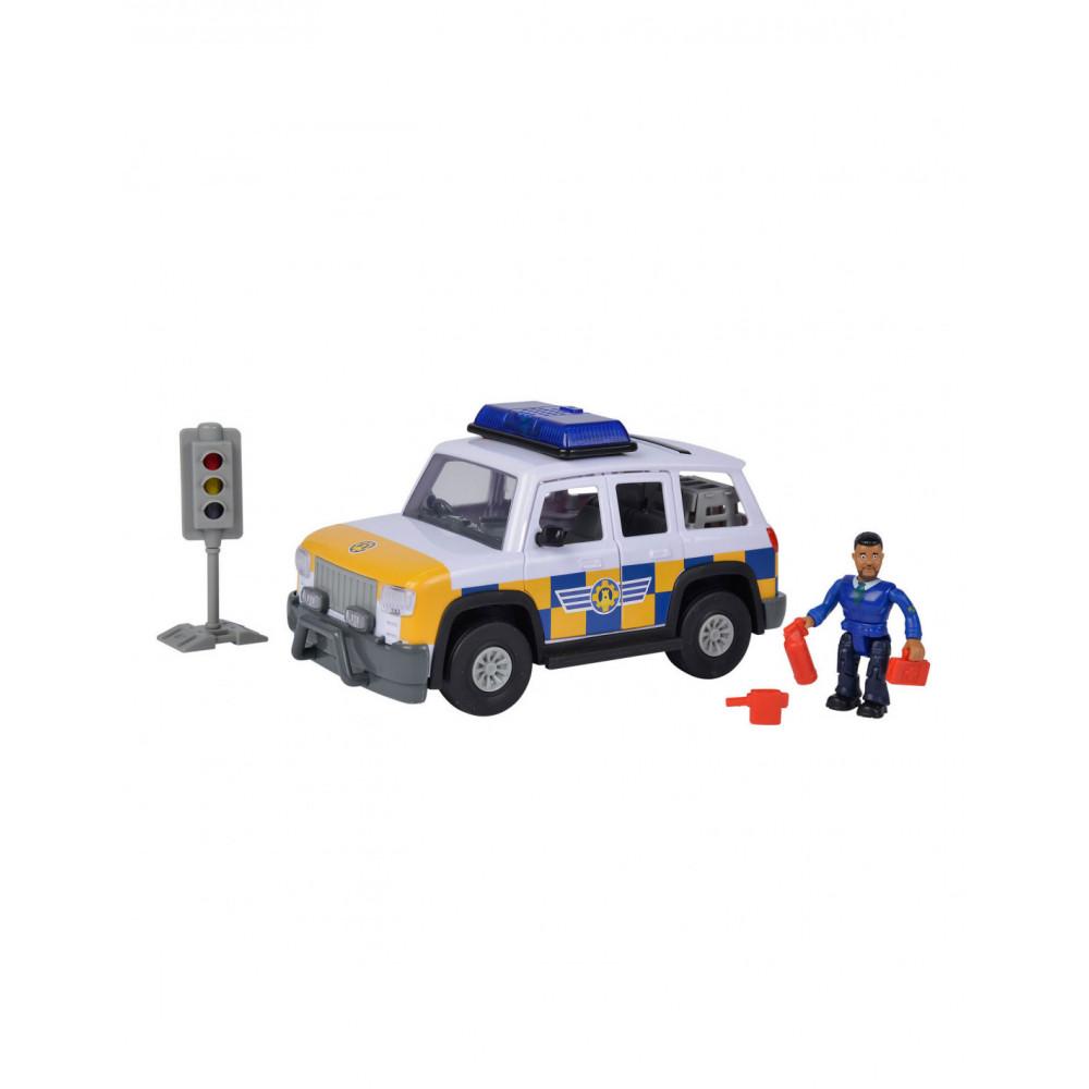 Brandweerman Sam Politie Jeep 4x4 met Figuur