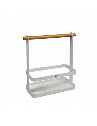 Etagere 23 X 10 X 24 Cm Staal Wit