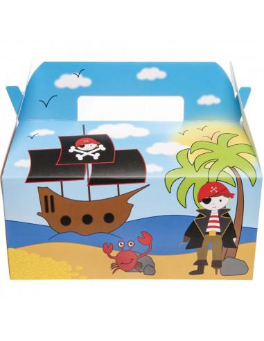 Menubox Piraat Jongens 22 X 12 Cm Karton