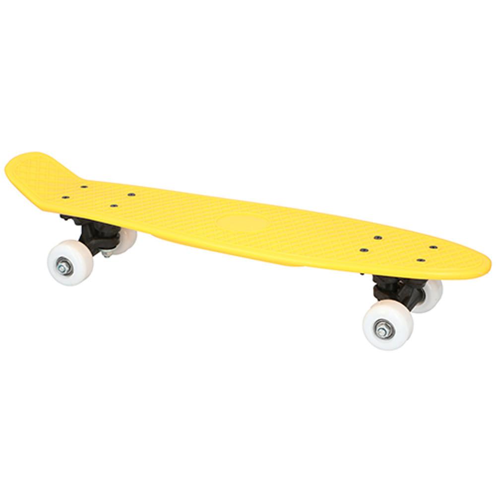 Skateboard 57cm Geel