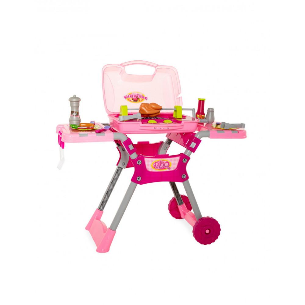Kinderbarbecue Grill met Licht & Geluid - Roze