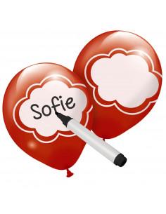 Beschrijfbare Ballonnen, 6st.
