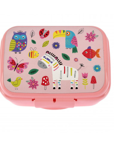 Lunchbox Dieren Roze