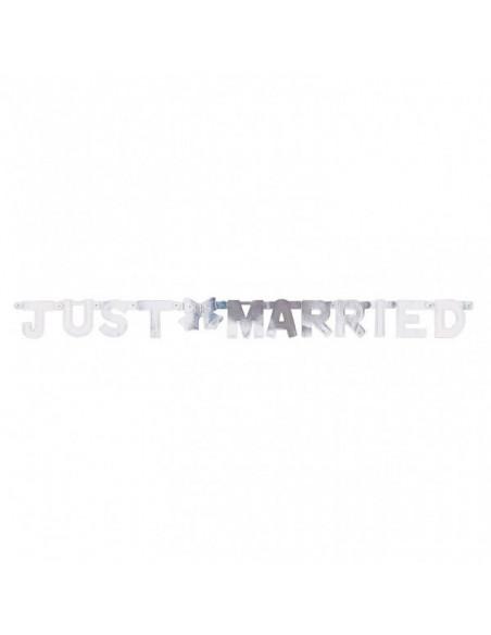 Banner Zilver Just Married
