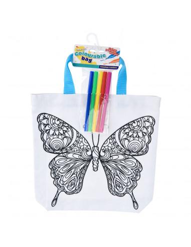 Kleur je eigen Tas - Vlinder
