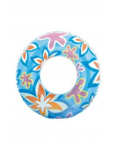 Zwemring 76cm - Blauw Bloem