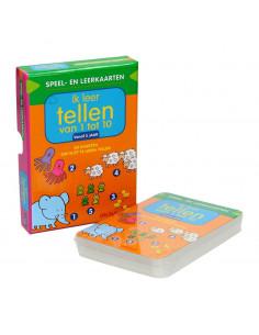 Speel- en Leerkaarten - Ik Leer Tellen van 1 tot 10 (3+)