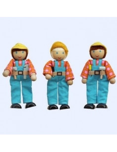 Dudu Toys Buigpoppetset automonteurs voor je garage, 3-delig