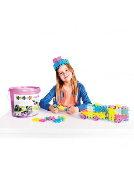 Clics Build en Play Glitter Emmer, 8in1