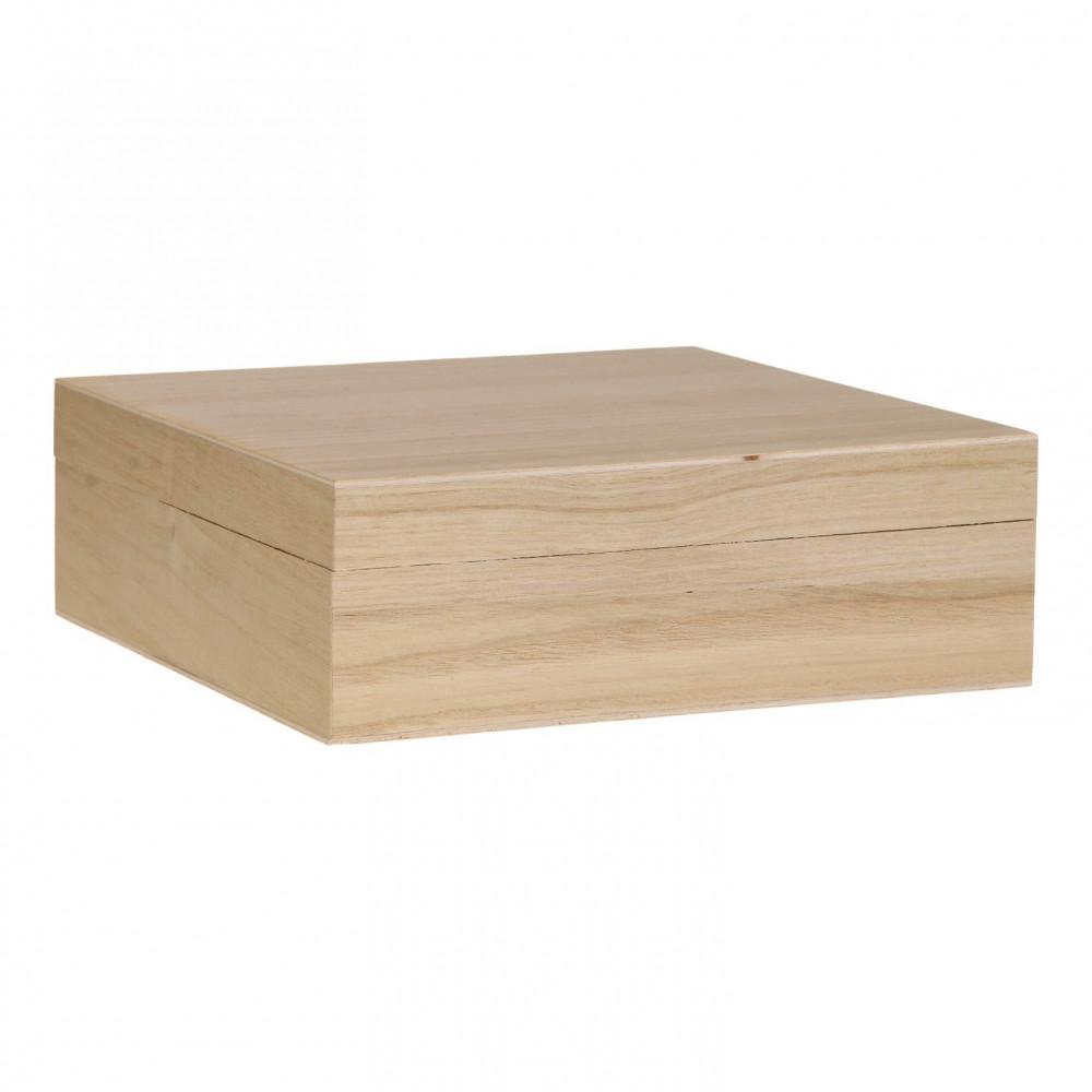 Kist Vierkant met Losse Deksel