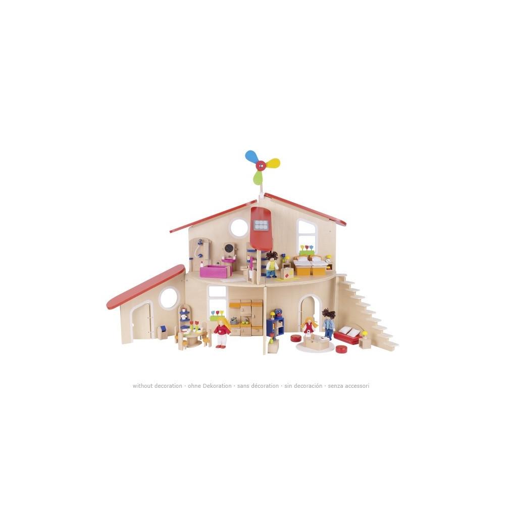 Goki Houten Poppenhuis Modern Leven