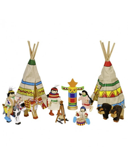 Goki poppenhuispopjes indianen
